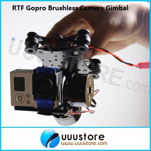 FPV AIO Brushless PTZ FPV Gimbal Camera Mount PTZ w/Brushless Motor and BGC2.0 Control board for Gopro 2/3 DJI Phantom RTF<br><br>Aliexpress