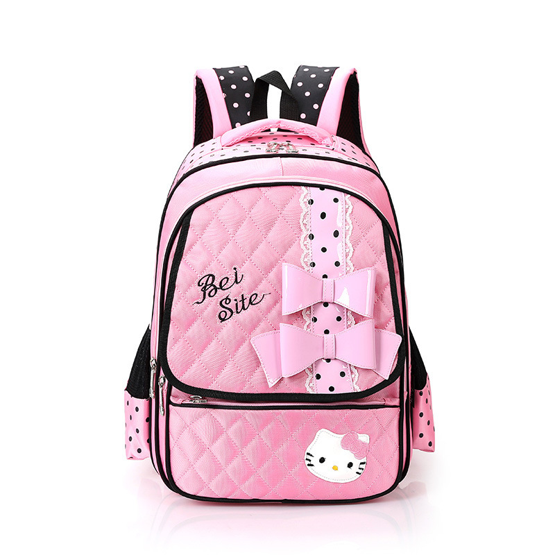 This is the best backpack option for a middle school girl. The dark color will keep her