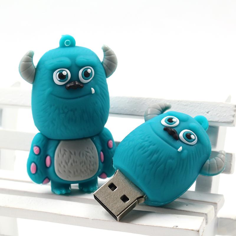 2016 New Design Smile Cow Monster Usb Flash Drive Real 8GB 16GB 32GB Pen Drive Pendrive Memory Flash Drive Udisk 4GB 64GB(China (Mainland))
