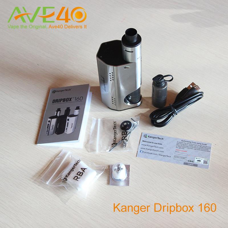 Фотография Original Kanger Dripbox 160 Electronic Cigarette with Subdrip RDA Atomizer DIY Drip Base and Clapton Coil 510 thread