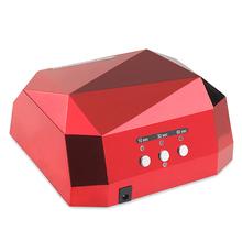 36W UV Lamp LED Ultraviolet Lamp UV Nail Dryer Nail Lamp Diamond Shaped CCFL Curing for UV Gel Nails Polish Nail Art Tools-1006C(China (Mainland))