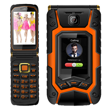 Flip Double dual Screen Dual speaker Dual SIM Card one-key dial and call long standby FM touch screen mobile phone X9 P008(China (Mainland))