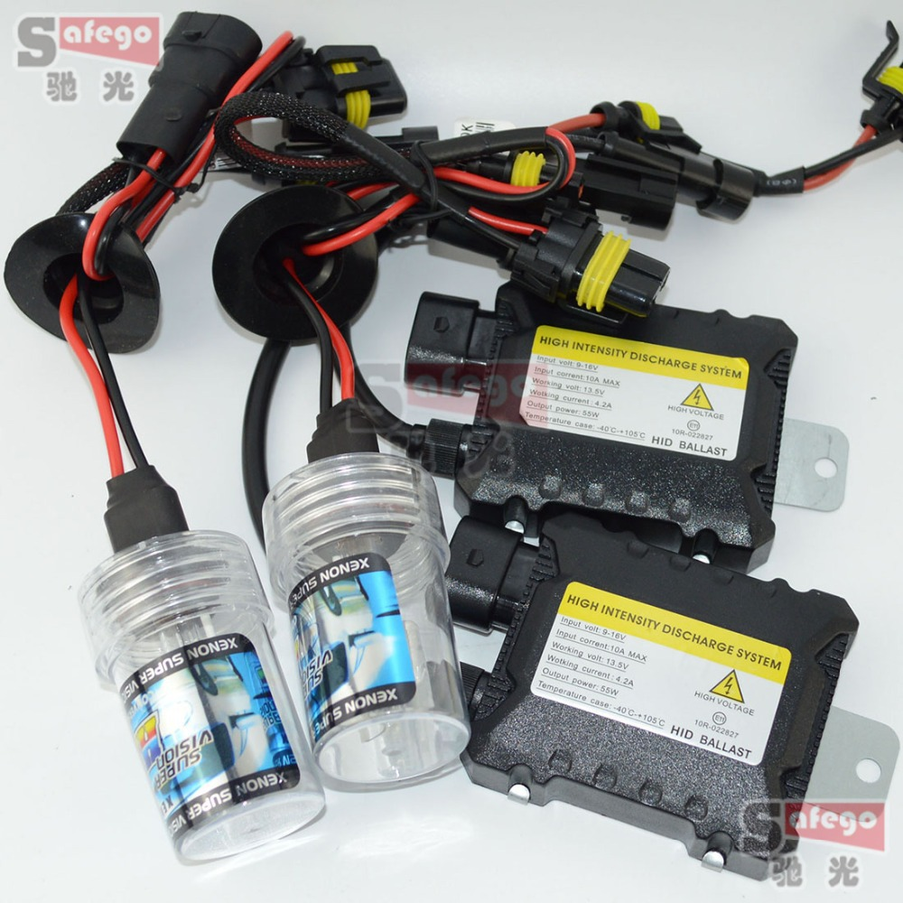 kit xenon hid kit H4 55W 6000K H1 H3 H7 H8 H10 H11 H9 H11 H13 9005 9006 9007 H27 ballast kit xenon H7 8000K 55W headlight bulbs(China (Mainland))