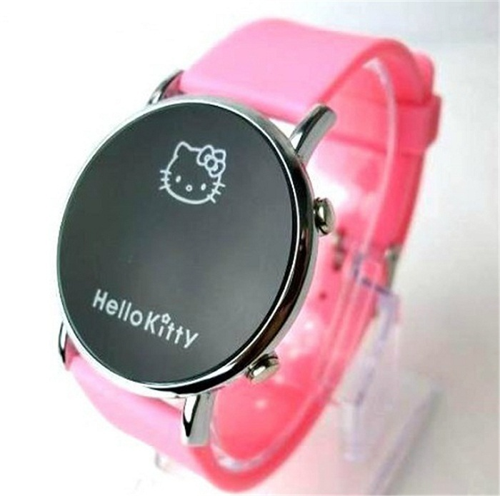 The new brand watches sports watches women's apparel, children's cartoon Hello Kitty watches relojes free shipping woman(China (Mainland))