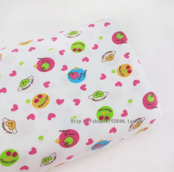 Cartoon knitted fabric spring and summer soft jersey fabric baby clothes blending fabric(China (Mainland))