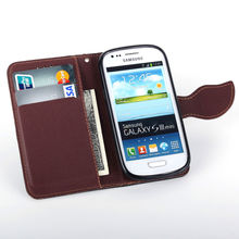 Buy S3mini Samsung Galaxy S3 Mini i8190 Leaf Clasp Flip Leather Cases Stand Function Card Slot Wallet Case Cover 8190 black SM for $4.74 in AliExpress store