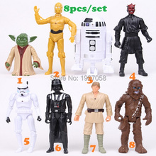 Hot sale my lovely little Action figure toys Star war Black Knight Darth Vader action toys 8pcs/set poni kid gift
