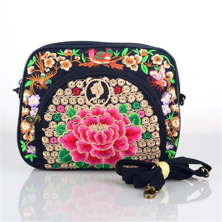 Hmong India new women folk handbags embroidery bag embroidered all-match simple shoulder messenger bag Travel Small Clutch bag(China (Mainland))