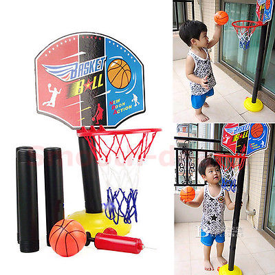 Free Shipping Indoor Outdoor Adjustable Mini Children Kid Basketball Play Set Sport Toy Game(China (Mainland))