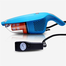 4 In 1 High power auto car air pump Inflation cleaning measuring tire pressure lighting tools vacuum cleaner lzh(China (Mainland))