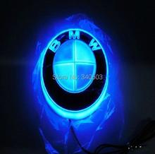 Car 4D Logo Light Badge EL Emblem Cold Lights Sticker Lamp Auto X1 X3 X5 X6 DC 12V Free Shipping (China (Mainland))