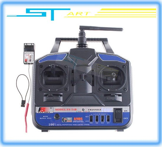 Hot Sale Flysky FS 2.4G 4CH FS-CT4B Radio Control RC Transmitter &amp; Receiver For Helicopter Airplane<br><br>Aliexpress