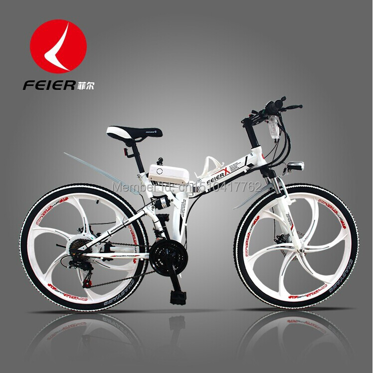 Folding electric bicycle lithium battery electric bikes electric bike battery car Genuine freeshopping