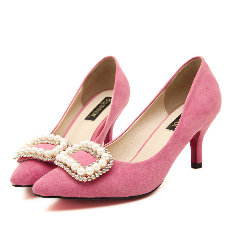 Pink Pumps Low Heel Promotion-Shop for Promotional Pink Pumps Low ...