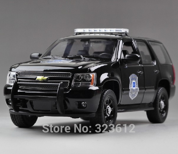 NEW 2015 1:24 Chevrolet 2008 Tahoe Police car Model Alloy Diecast Collection Black B2179(China (Mainland))