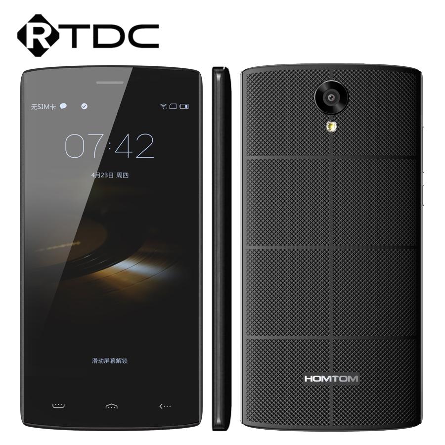 In Stock Original HOMTOM HT7 Mobile Phone Android 5.1 MTK6580A 1G RAM 8G ROM 1280x720 5.5 Inch HD 8.0MP Wifi GPS WCDMA(China (Mainland))