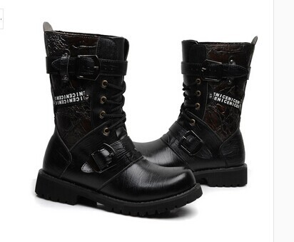 High tide men boots combat cowboy Martin male Korean fashion military
