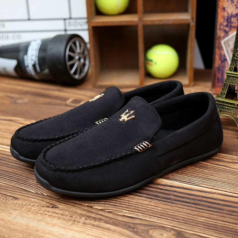 2015 Hot Men Comfortable Leather Fashion Casual breathable driving Shoes Mens slip-on Flats Doug Loafers moccasin gommino - Sammy outdoor sports store