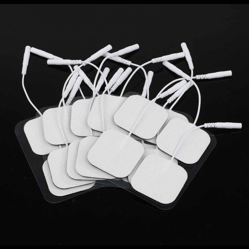20pcs/lot self adhesive reusable Tens Electrode Pad Gel Electrodes Digital Therapy Machine Massager muscle stimulator 2mm Plug(China (Mainland))