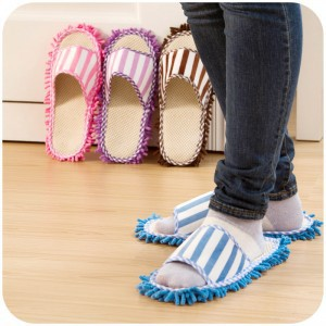 Multifunction Microfiber Dust Mop Slippers Novelty Bedroom Slippers Home Cleaning Shoes(China (Mainland))