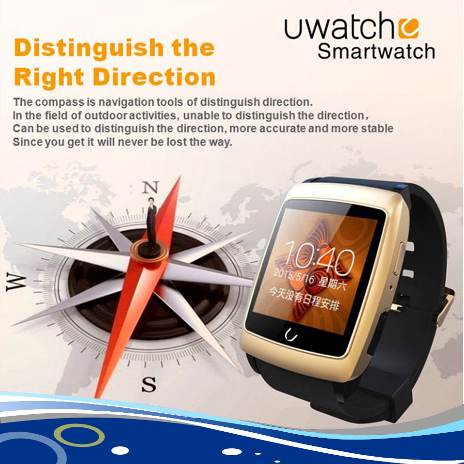 Original U Watch U18 Smart Watch 1.54,240*240 Bluetooth 4.0 Pedometer Sync GPS Navigator Wristwatch for IOS Android smatPhones<br><br>Aliexpress