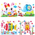 3D Eva Foam Puzzles Stickers Kids Handmade Button Toys Self adhesive Gift FCI