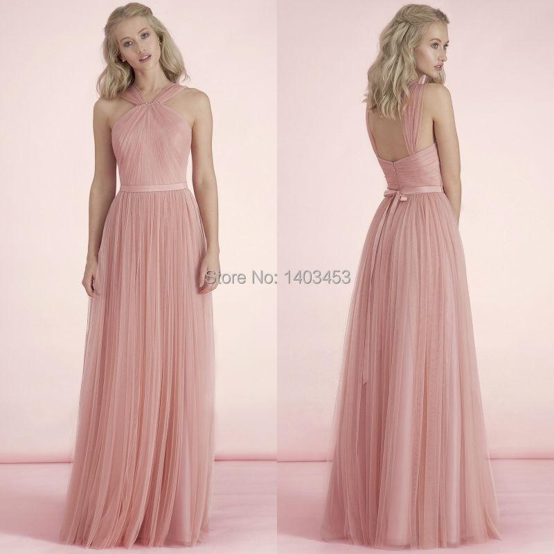 Pastel Pink Bridesmaid Dresses Discount Wedding Dresses