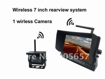 Wireless 7 Inch car rearview system with 1 camera