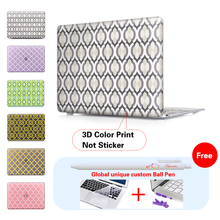 Violet Grey Moroccan Style Laptop Computer Bag For Apple Mac Macbook Pro 15 For Macbook 12 inch Case + Silicone Keyboard Cover