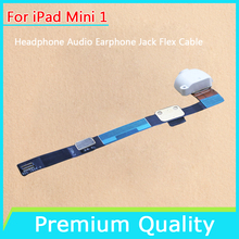 Mixing Color White & Black For iPad Mini 1 Headphone Audio Earphone Jack Flex Cable High Quality Replacement Free Shipping