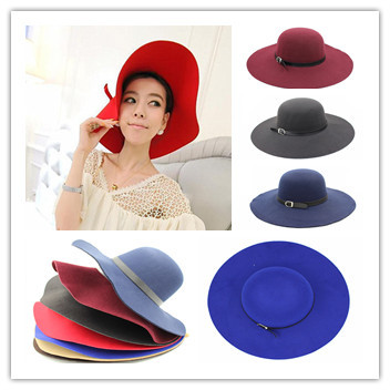 Three from the sale Hats For Women Autumn Winter Cashmere Wool Fedoras Dome Rolled Beanies Circular Caps Sun Gorro Chapeu Gorro(China (Mainland))