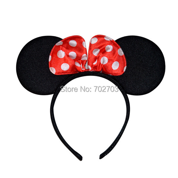 Free Shipping 10pcs/lot Kids Mickey Mouse Ear Party Cosplay Bopper / Baby Birthday Mickey Mouse Hairband(China (Mainland))