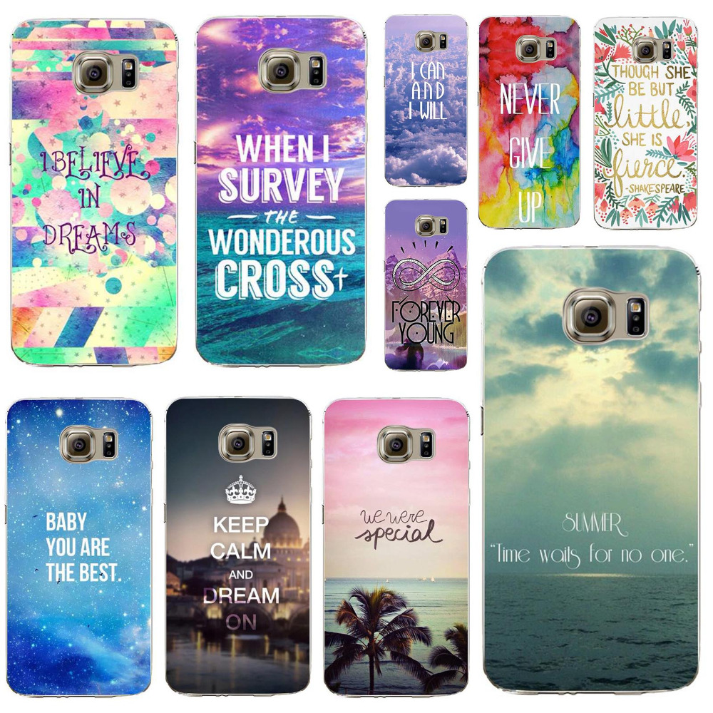 Phone Cover For Samsung Galaxy S6Edge Colorful Flowers With Words Designs Silicon Case Populer Pattern Phone Cases Super Deal(China (Mainland))