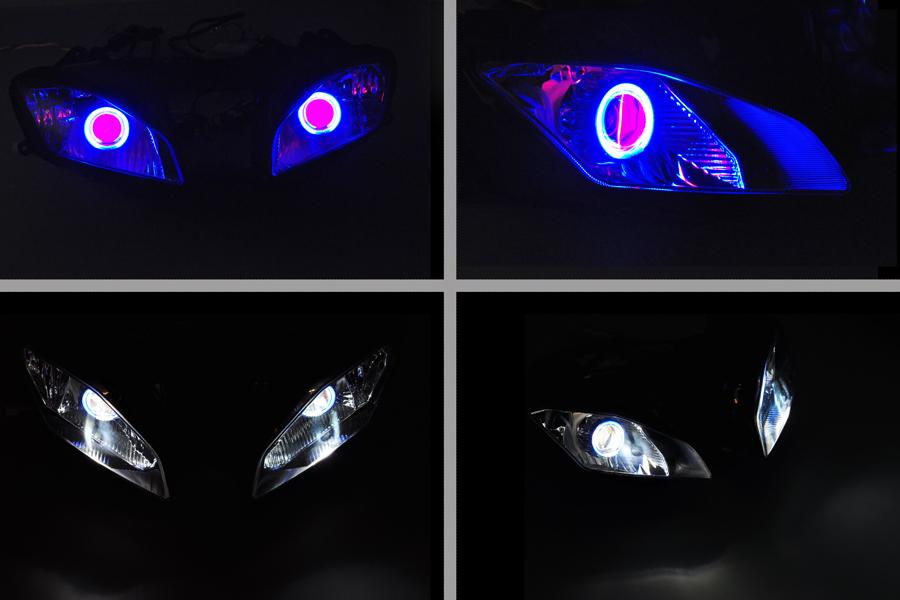 ABS Projector Lamps Headlight Blue Angel Eye + Red Devil Eye For YAMAHA YZF R6 2008-2012 2008 2009 2010 2011 2012 [DD10-BR]