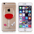 For Apple Luxury Hot Sale Red Wine Cup Liquid Transparent Case Cover For Apple iPhone 5