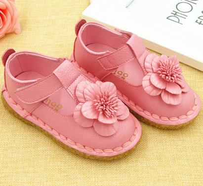 Girls genuine leather shoes autumn party shoes for girls flower wedding children single student flower princess baby shoes 988b(China (Mainland))