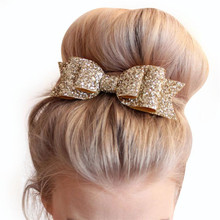 Buy 2017 Fashion Girls Sequins Bowknot Hairpin Headdress Hair Accessories Barrettes Head Hairpins Jewelry for $1.05 in AliExpress store