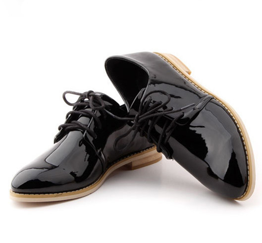 Гаджет  2014 NEW Spring Genuine Patent Leather Oxfords Women