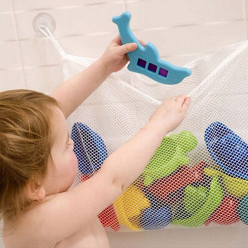 Creative Folding Eco-Friendly Baby Bathroom Mesh Bath Toy Storage Bag Net Suction Cup Baskets(China (Mainland))