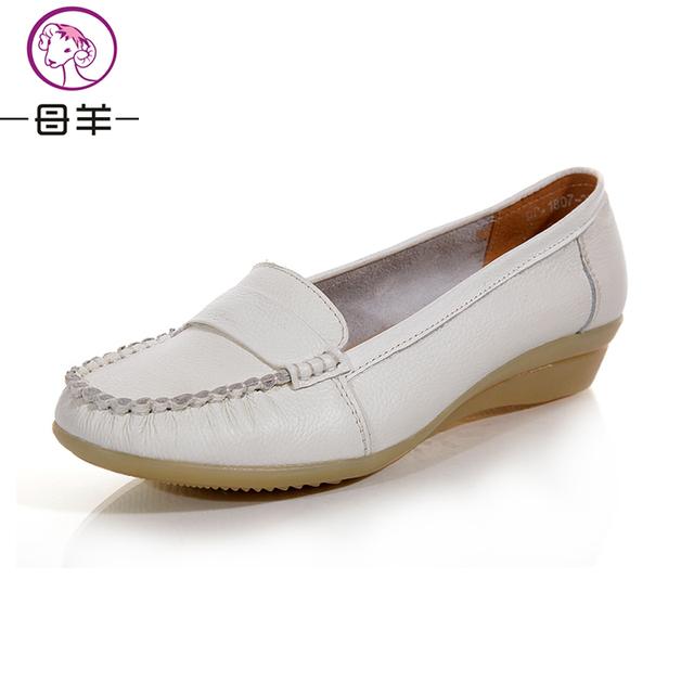 5 цветов 2016 новая мода мокасины женские натуральная кожа плоские туфли женские ...