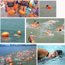 Fart gas nozzle double balloon with safe swimming ball ball bag drifting life saving equipment(China (Mainland))