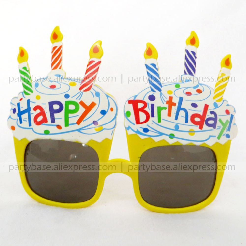 Colorful Happy Birthday Cake and Candle Novelty Party Glasses wholesale 300PCS/LOT | Party & Events Supplies(China (Mainland))