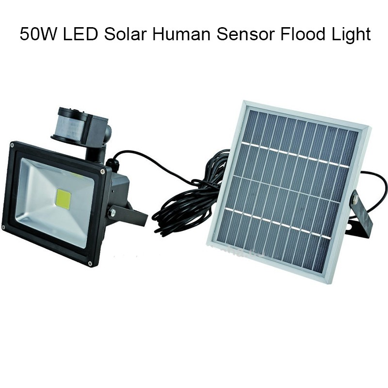 ultra bright 50w led motion sensor security solar light led flood. Black Bedroom Furniture Sets. Home Design Ideas