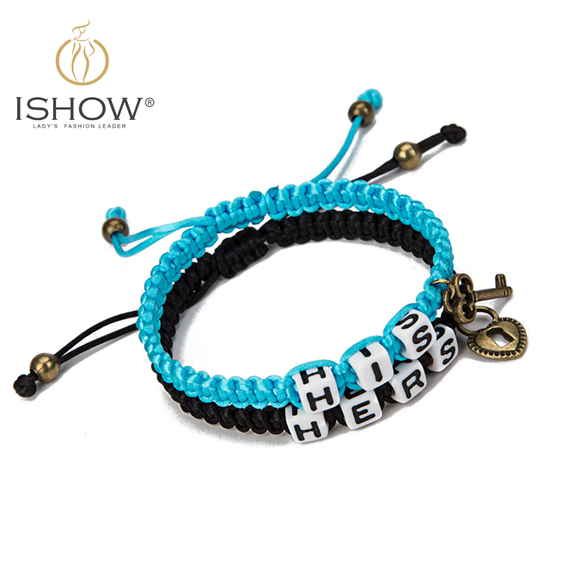 Fashion jewelry leather bracelet for women couple his hers lock key charm bracelets pulsera Love Valentines Day Gift<br><br>Aliexpress