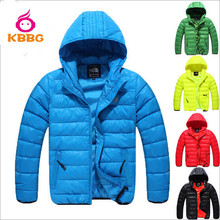 Retail 1 pcs  Free Shipping 2014 New Boys Coat Children's Clothes Kids Warm Jacket Boys Down Coat Jackets Outerwear Padded AB374(China (Mainland))