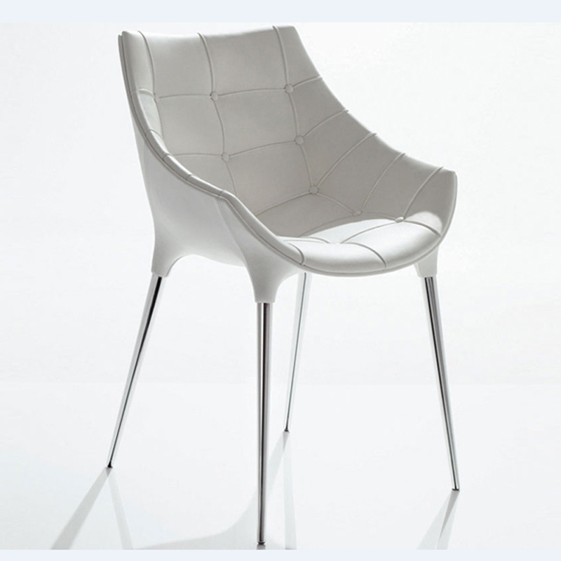 Free White Pu Leather Armchair
