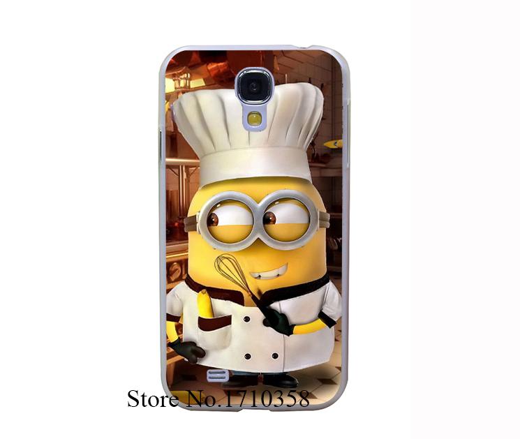 minions chief Transprent Hard Case Cover for Samsung Galaxy S6 Edge S5 Mini S3 Mini S4