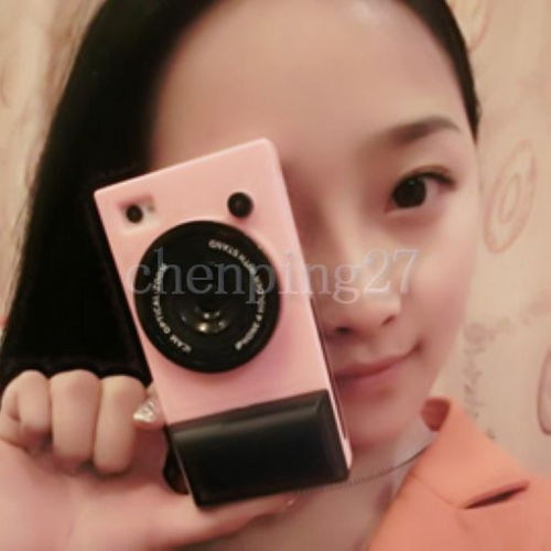Green 2013 Hot New Design Hot 3D Camera Shaped Cell Phone Case For iphone 4 /4S(China (Mainland))