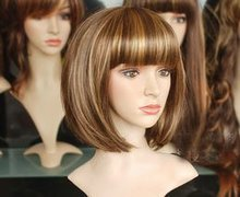 2012 Gorgeous short fashion BOB wig+cap(China (Mainland))