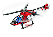 DECOOL 3336 TECHNIC Whirl Ybird DIY Rescue Helicopter Model Building Blocks Construction Bricks Compatible With Lego(China (Mainland))